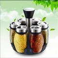 Set creative rotation spice jar seasoning bottle seven sets household goods