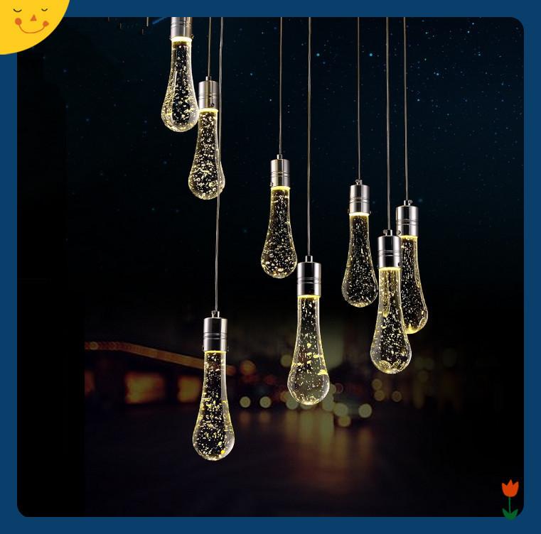 Outdoor Pendant Lights Modern LED Bubble Crystal Pendant