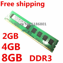 Brand New Sealed DDR3 1600 MHz / 1333 MHz PC3 12800/10600 1 GB 2 GB 4 GB 8 GB mémoire RAM mémoire compatible avec DDR3 1066 MHz(China (Mainland))