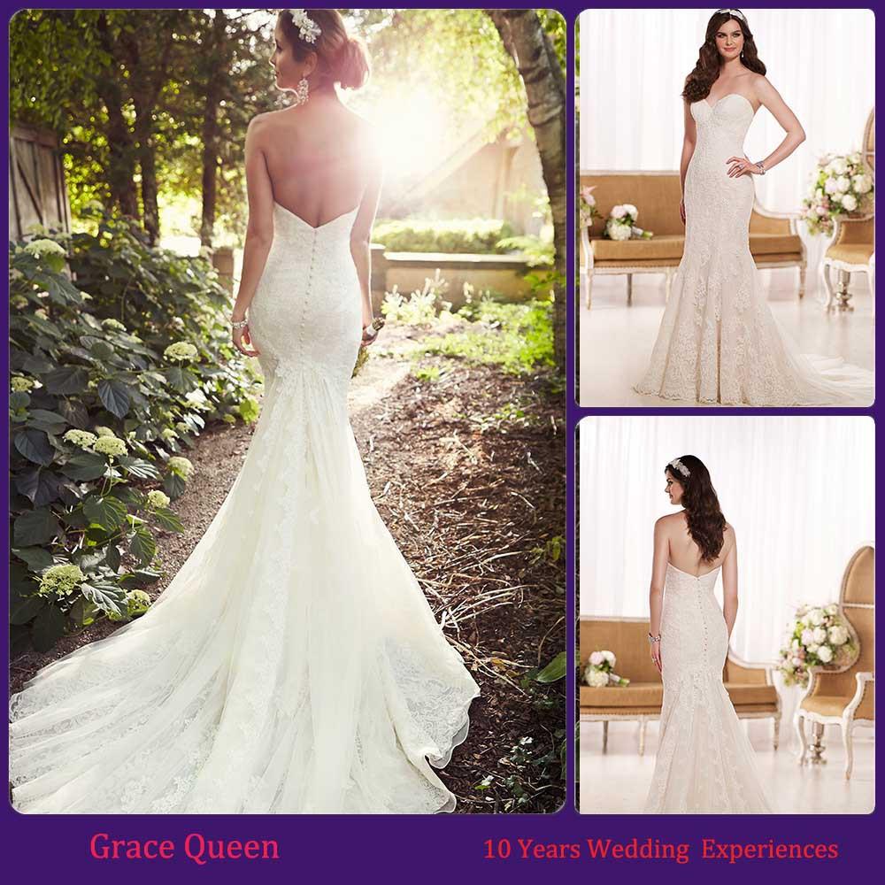 Latest Wedding Dresses And Their Prices : Lahav custom made new wedding dress lace mermaid dresses
