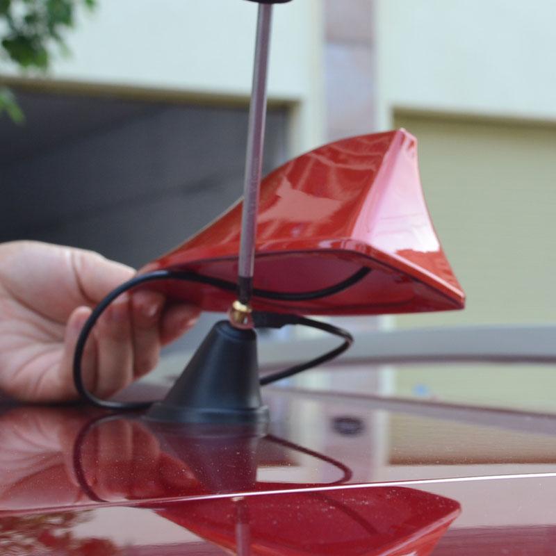 Newest design special car With blank radio shark fin antenna signal  with 3M adhesive for Nissan tiida TIIDA qashqai<br><br>Aliexpress