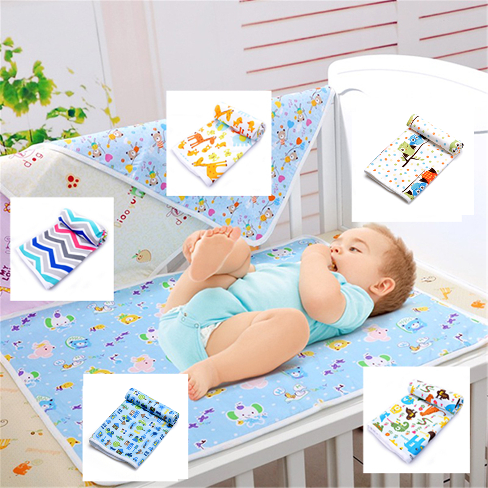 Free Shipping 50 70cm waterproof pad changing mat mattress washable baby urine cloth pad bed sheet