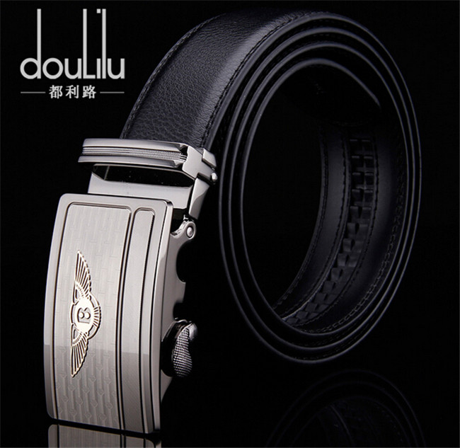 2016 New Fashion Men's Genuine Leather Belts , Luxury Automatic B Buckle Business Belts For Men(China (Mainland))