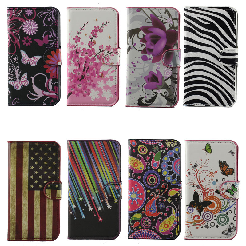 2015 Pink Plum Magnetic Leather Case Cover Card Slots & Stand Alcatel One Touch Pop C7 7040D 7041D OT-7040E 7040F - Sunny Store store