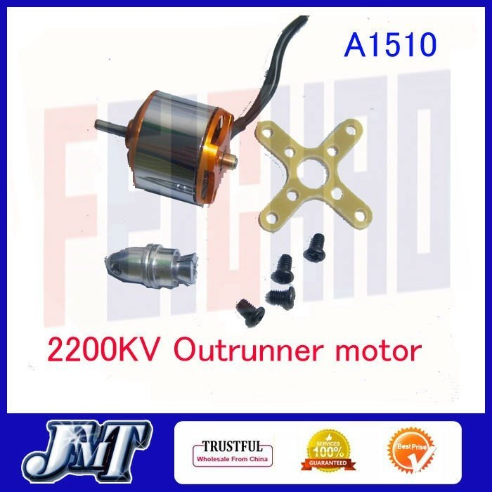 F02070 A1510 2200KV Brushless Outrunner Motor + Propeller Adapter For Mini RC X-axis Aircraft Fixed-wing UFO + Free shipping