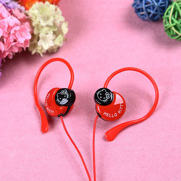 Cartoon hello kitty earphones gifts to children 3.5mm Headset For Mp3 Player Computer MobileTelephone(China (Mainland))