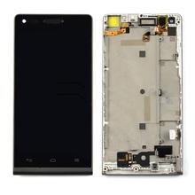 Для Huawei Ascend G6 жк-дисплей с сенсорным экраном планшета ассамблеи с рамкой черный бесплатная доставка