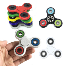 Buy 9 colors Tri-Spinner Fidget Toy Plastic EDC Hand Spinner Autism ADHD Rotation Time Long Anti Stress Toys #E for $1.40 in AliExpress store
