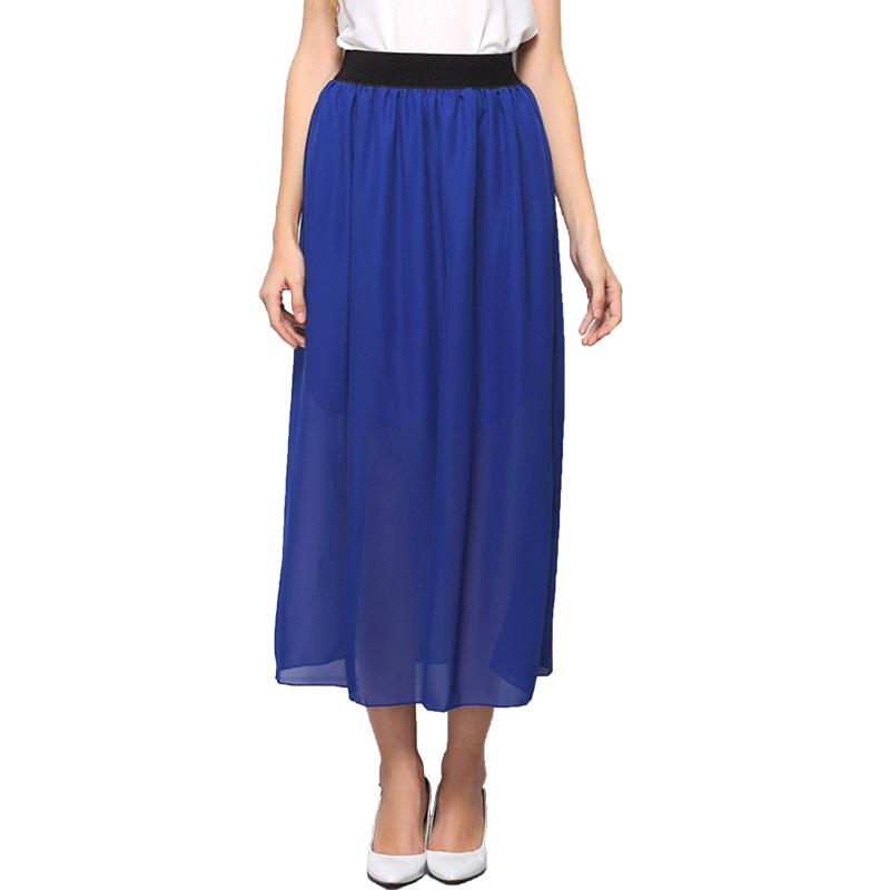 2015 summer autumn fashion pleated maxi skirt