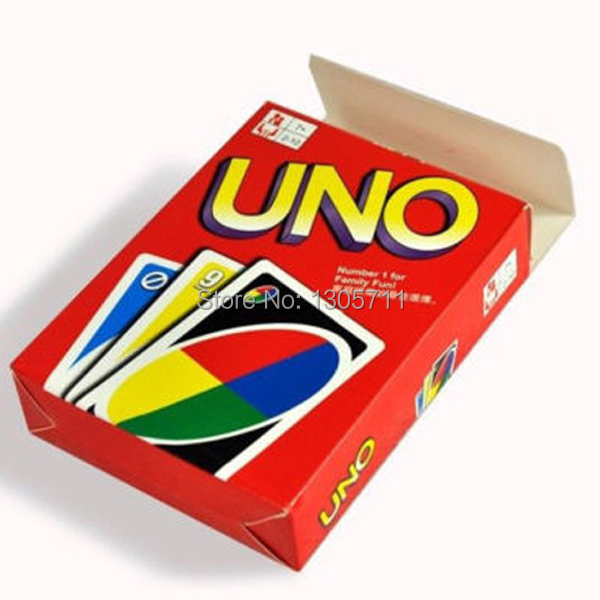 UNO playing cards cooper paper high quality funny board game uno playing cards english rusian rules optional(China (Mainland))