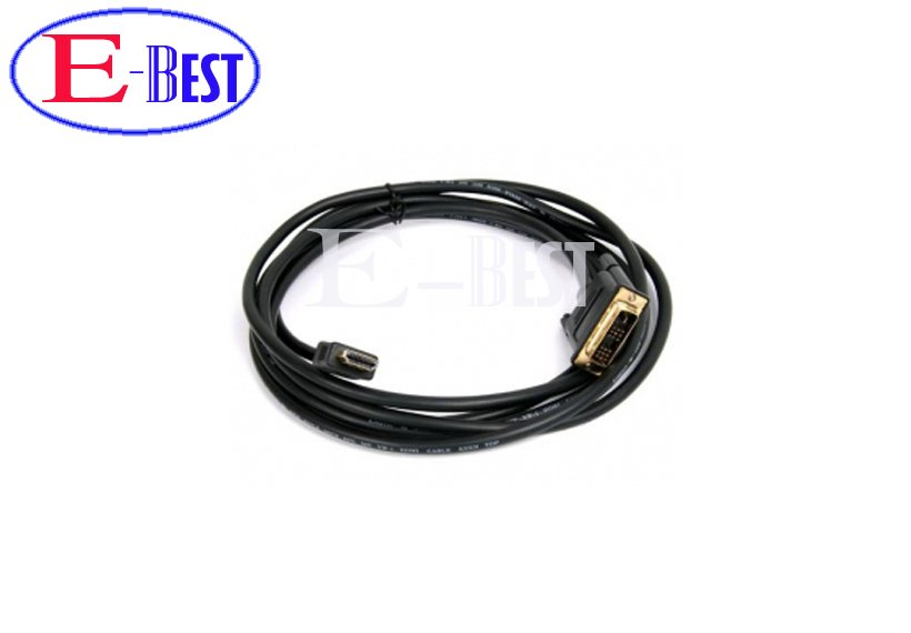5ft 1.5m Gold DVI Male to HDMI Cable for satellite receiver / LCD HDMI to DVI cable for dm800 dm800hd Free shipping post(China (Mainland))