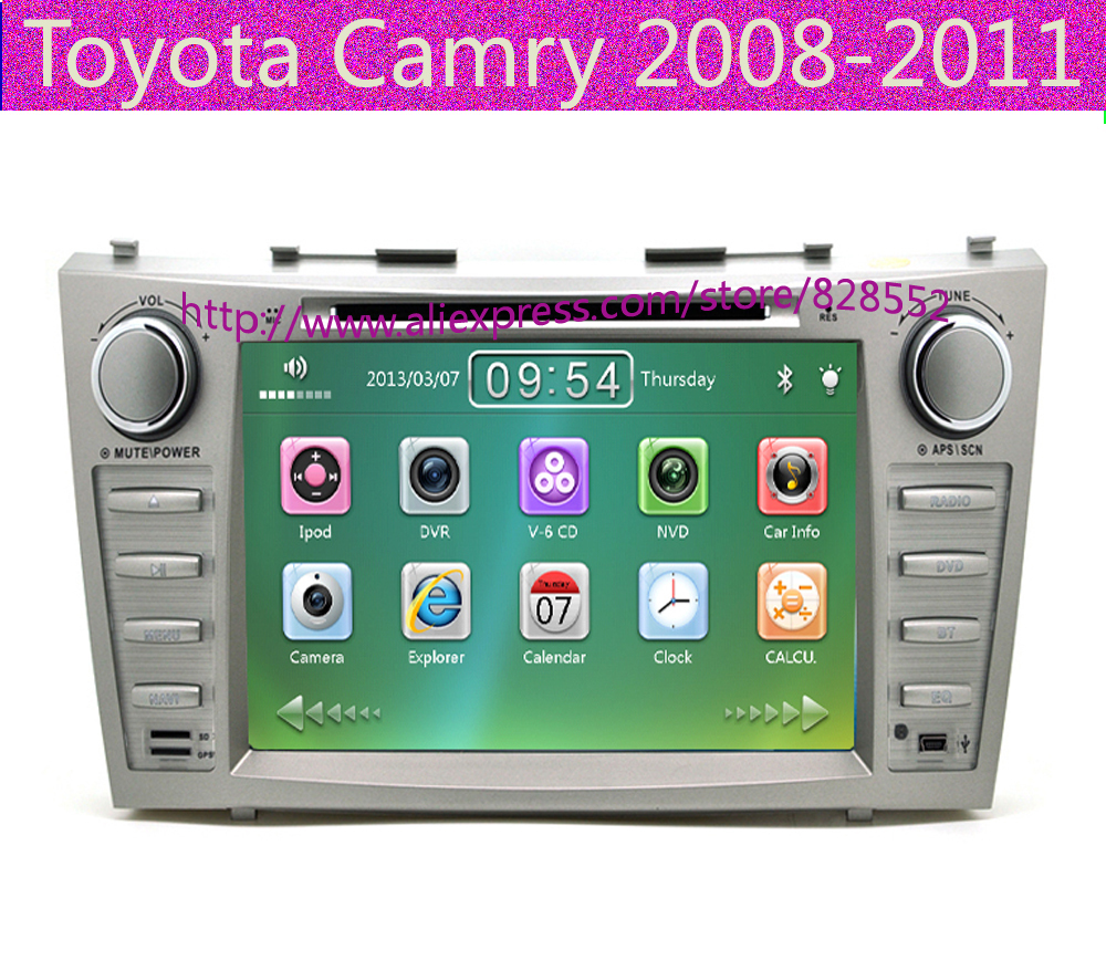 toyota camry 2008 navigation dvd 2007 2008 2009 2010 2011 toyota camry 8 39 39 radio ipod dvd. Black Bedroom Furniture Sets. Home Design Ideas