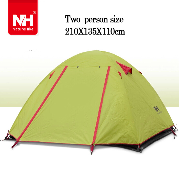 1.9KG Ultra-light Portable Hiking Tenttent 2 person1 Double Layer Aluminum Rod Camping Tent travel Trekking Waterproof - For Joy Store store