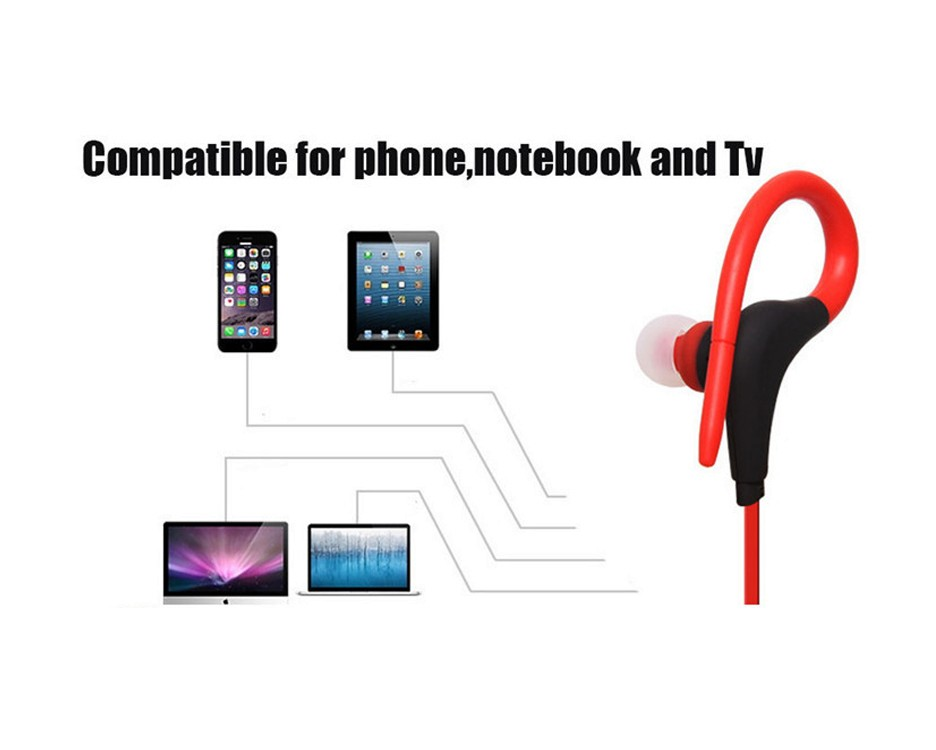 Original Bluetooth 4.1 Headset Wireless Stereo Sports Earphone Studio Music Handsfree Headphone Sweatproof for iPhone Samsung