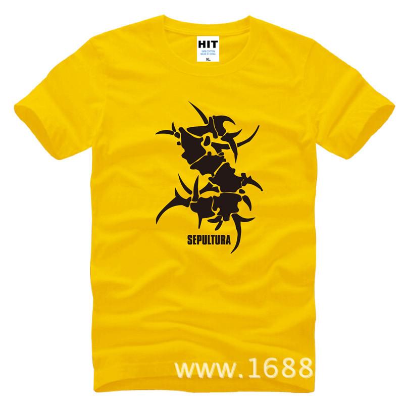 Big Discount Men tshirt SEPULTURA Tribal Logo Metal Punk rock Men's T-Shirt 100% Cotton Casual Top Tee Masculina(China (Mainland))