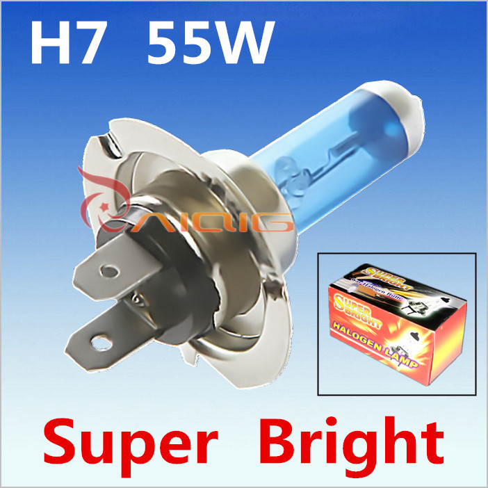 1H7 55W 12V Halogen Bulb Super Xenon White Fog Lights High Power Car Headlight Lamp Light Source parking 6000K auto - Guang Zhou Ming Zhi Technology co., LTD store