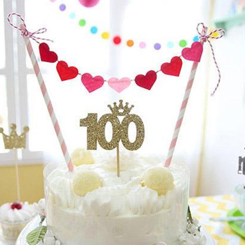 Торт с флажками с днем рождения