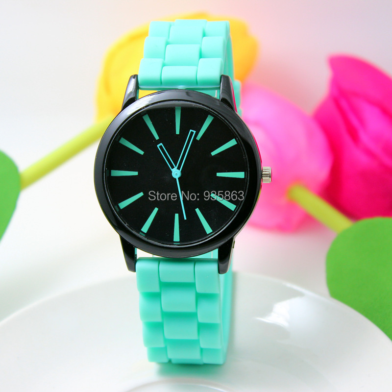 Geneva Watch 14 Colors Women Dress Fashion Watches Silicone Quartz Wristwatches GENEVA020 - life Accesorries! store