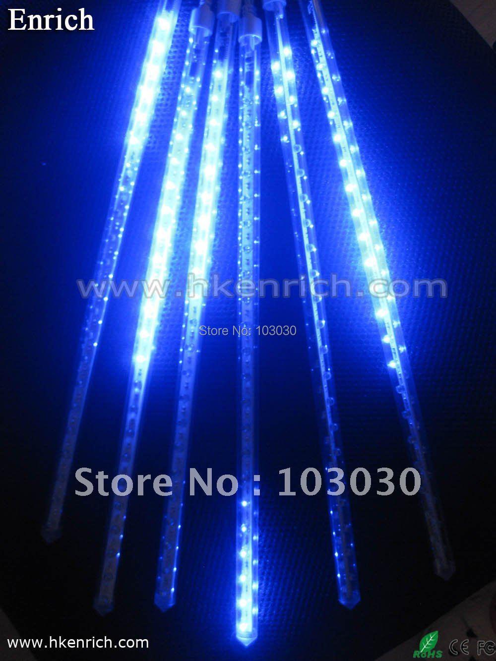 6pcs/set 40cm Mini type LED Meteor Light LED Rain light double-sided with Free Shipping(China (Mainland))