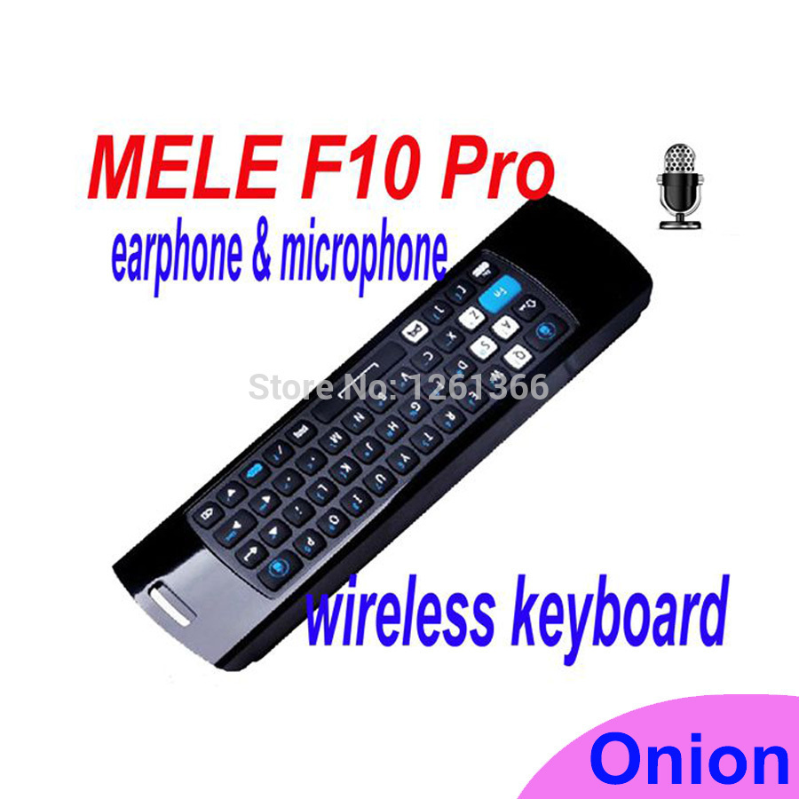 Mele F10 Pro Fly Air Mouse Keyboard Wireless Remote Control with Earphone & Micphone 2.4GHz for Android TV Box/IPTV/Motion Games(China (Mainland))