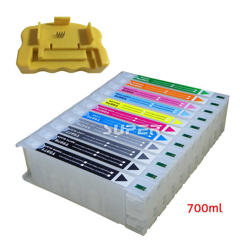 Cheap inkjet cartridges empty for Epson 7910 9910 printer with chips and resetter on high quality(China (Mainland))