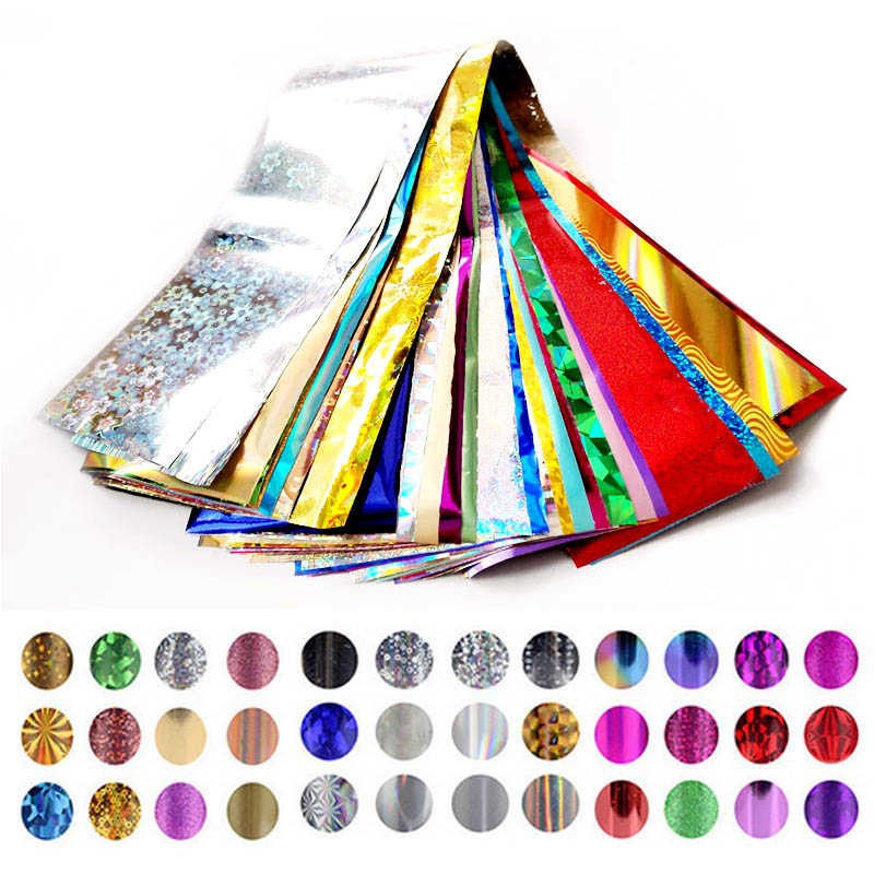 4cm*30cm Transfer Foil Nail Art Star Design Stickers for Nails Foil Polish Care DIY Beauty Nail Wraps Free Shipping(China (Mainland))
