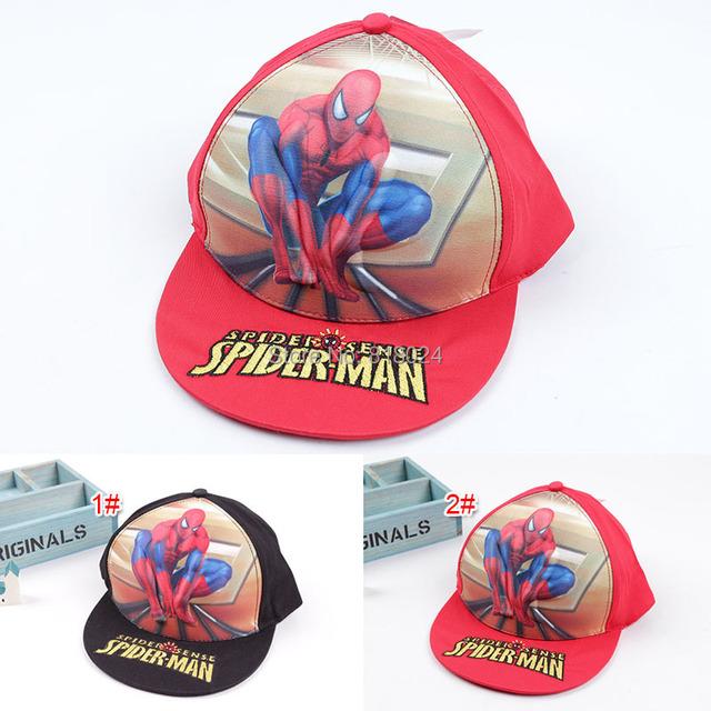 Мальчики и девочки комикс паук шапки дети в лето регулируемый бейсбол кепка человек-паук супер hero принт