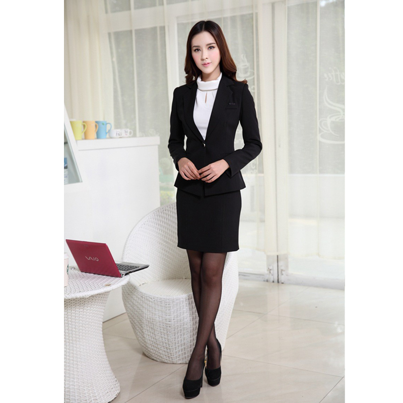 Lastest 2015 Modern Short Skirt Suit For Business Women - Buy Short Skirt Suits For WomenOffice Ladies ...