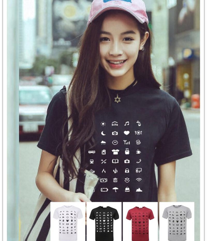 Free Shipping The Traveler T Shirt Icon Speak Super Useful Icon Food Clothing Shlter Expenditure Travel TX92-BO(China (Mainland))