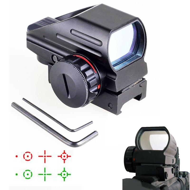 Hunting Tactical Optics Laser Red Green Dot Reflex Scope Sight Reticle 1x22x33 20mm For Guns Airsoft Pistol Optical Riflescopes