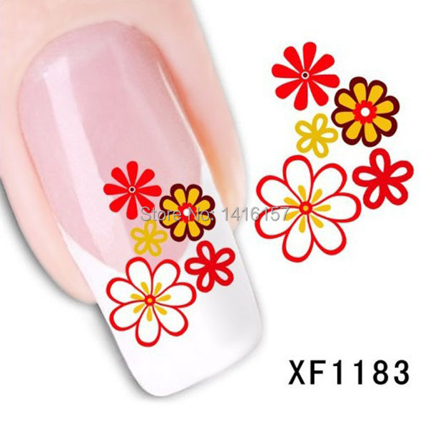 Water Transfer Nail Art Stickers Decal Beauty Colorful Sunflowers Design Manicure Tool(China (Mainland))