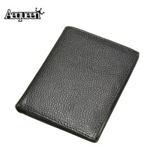 Buy AEQUEEN Genuine Leather Men Wallets Short Purses Business ID Credit Card Holder Small Wallet Male Coin Purse Thin Mens Pouch for $5.47 in AliExpress store