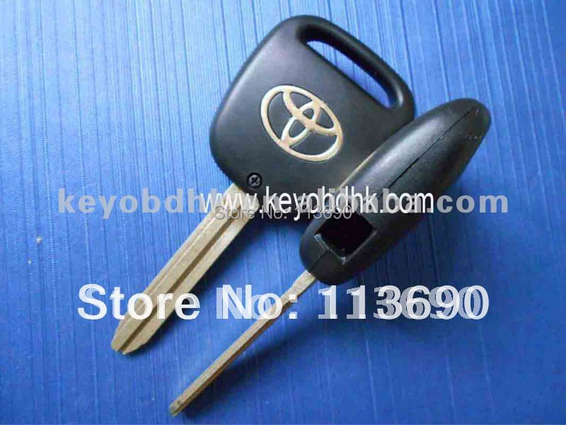 Remote Fob Case Replacement Car Key Shell with 1 Hole one Button on side of Plastic cover with toy43 blade For Toyota(China (Mainland))