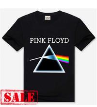 2016 men fashion t shirt,New style Free shipping mens cotton t-shirt, Pink Floyd 3D printed Hard Rock t shirts for man BT211