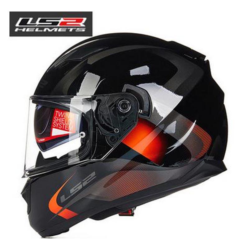 New arrive 100% original LS2 ff320 motorcycle helmet with inner sun visor full face helmet double visor helmet with airbags(China (Mainland))