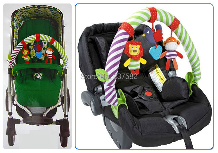 New High Quality Baby Mobile Musical Bed Play Stroller Rattles Seat Take Along Travel Arch Development Baby Toys 0-12 Months