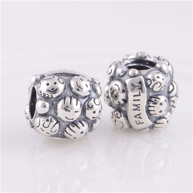 Новые 925 серебряные ювелирные изделия бусины любовь семья европейский шарм женщин DIY мода ювелирных изделий подходит пандора браслет