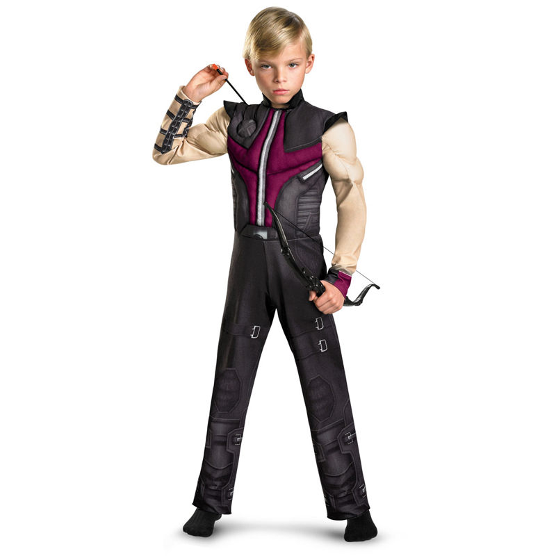 The new listing Kids Hawkeye Avengers Muscle Costume Boys disfraces infantiles superheroes halloween cosplay fancy dress(China (Mainland))