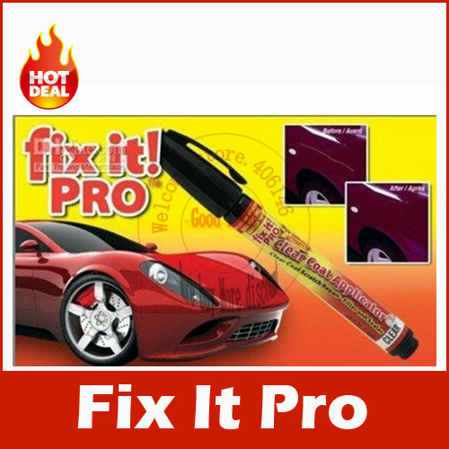 Free shipping 2pcs/lot new 2014 Car Scratch Clear Repair paint pen car care fix it pro car scratch remover pen(China (Mainland))