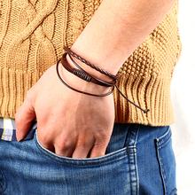 Новинка мода 100% ручной работы кожаный ремешок мужчины браслет браслет ювелирные изделия веревки повязку на запястье аксессуары для женщин кожаные браслеты украшения лучшие друзья браслет мужской 2014 M16(China (Mainland))