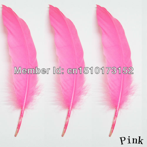 20lot Pink Hard Rod Goose plumage 5-7inch/13-18cm Crafts DP-3 - TiTi Feather Market store