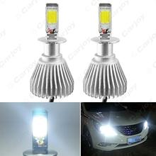 Buy 2pcs Super White H3 6000K 60W 6400LM Car COB LED Headlight Kit Fog Lamp Bulbs Xenon Light #CA1722 for $20.50 in AliExpress store