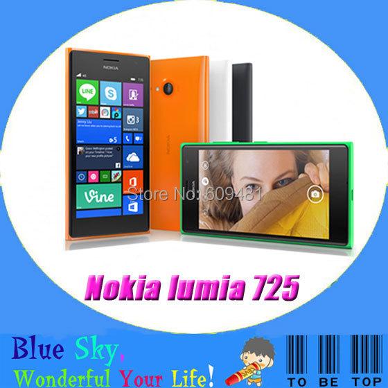 "Original Nokia Lumia 735 Window phone 4.7"" Capacitive TouchScreen Quad core 6.7MP Camera 1G RAM 8G ROM 3G 4G Cell phone(China (Mainland))"