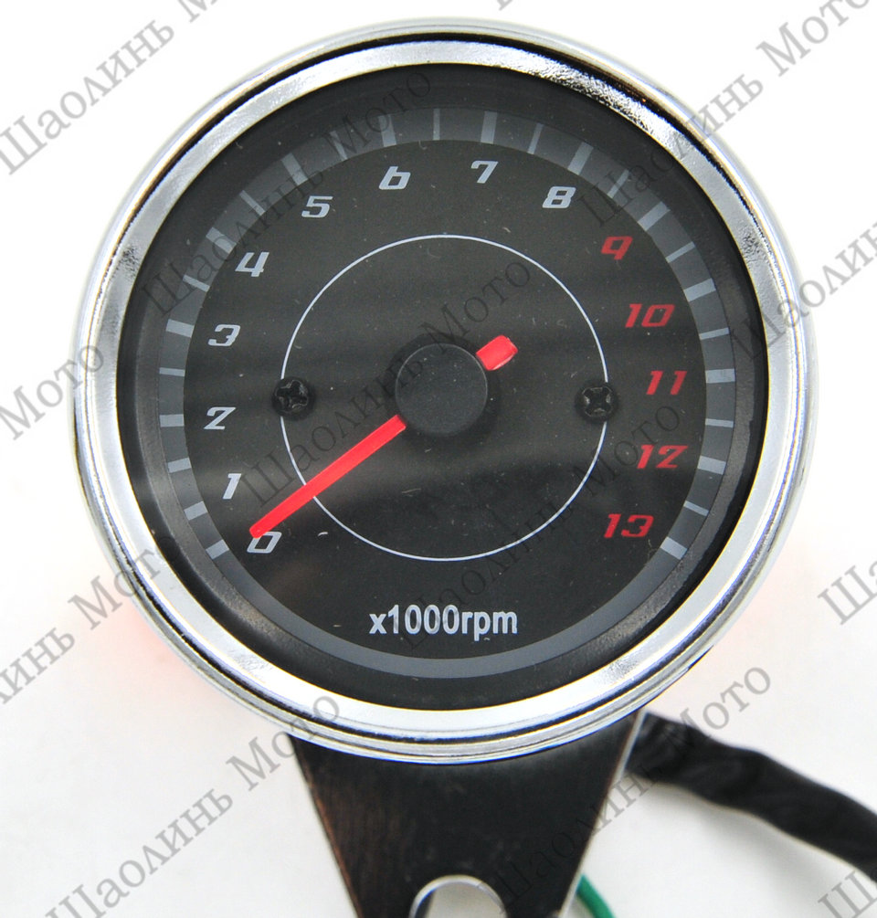 Vintage Chrome LED CAFE RACER BOXER TWIN BOBBER TRACKER Motorcycle Odometer Speedometer Gauge Miles Speed meter Free Shipping<br><br>Aliexpress