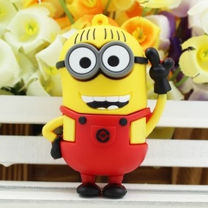 cartoon pen drive minions thumbdrive thumb drive usb 2.0 memoria 32gb usb key 64gb 64 gb usb pendrive flash drive free shipping(China (Mainland))