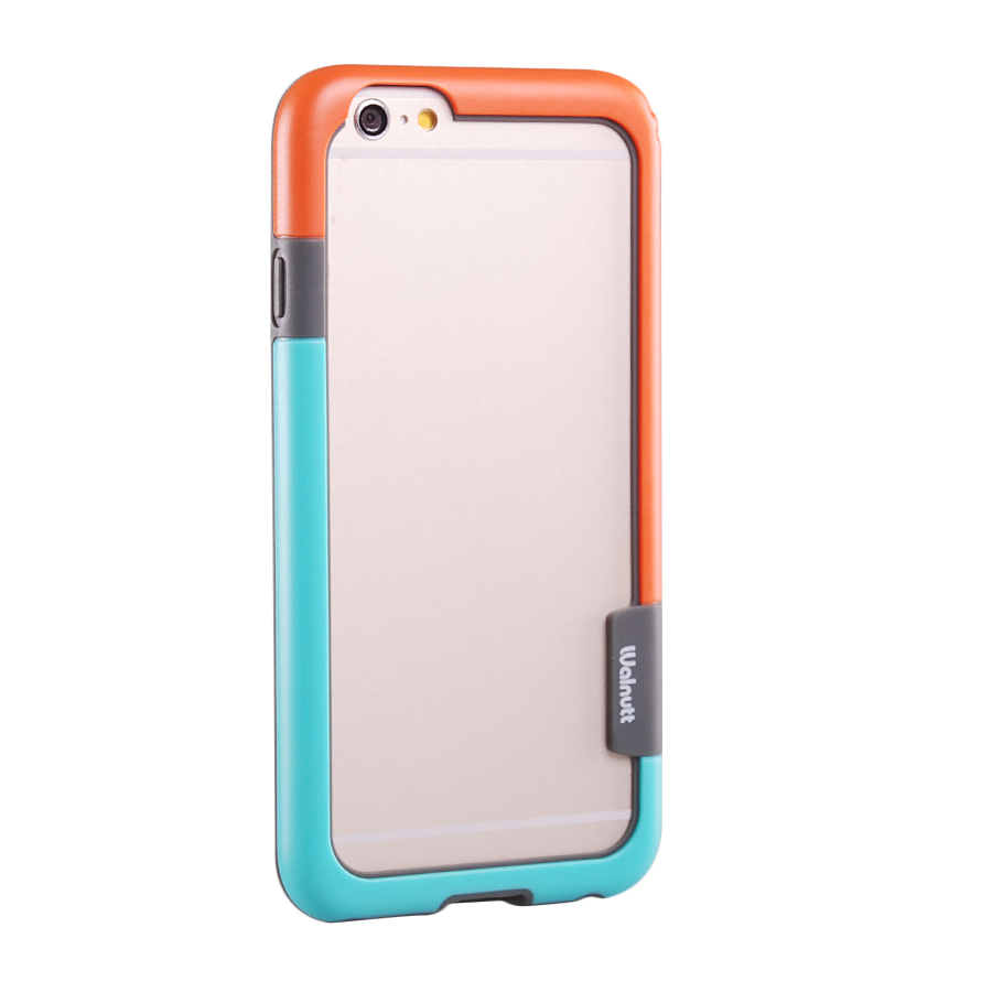 Dual Color Plastic Shockproof Bumper Frame Case For iPhone 6 5.5'' Blue+Orange(China (Mainland))