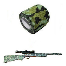 Useful Self Adhesive Elastic Camo Bandage,Paintball CS War Game Airsoft Hunting Shooting Camouflage Tape 1 Roll