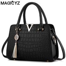 Buy Luxury Crocodile leather women handbags Famous brands designer women messenger bags female fringed shoulder bag women's pouch for $18.65 in AliExpress store