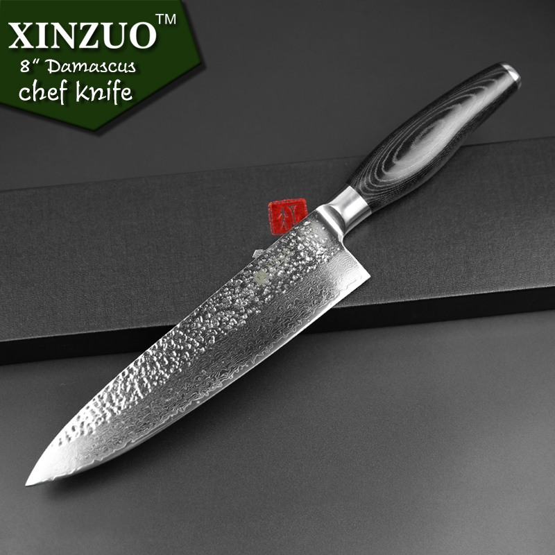 buy xinzuo high quality 8 inch chef knife chinese best damascus kitchen knife. Black Bedroom Furniture Sets. Home Design Ideas