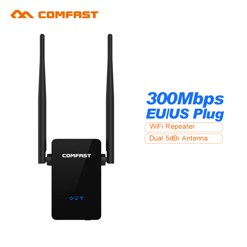 Comfast WiFi Amplifier Router Mini Wireless Repeater 300M Wifi Router Extender 10dBI Wi fi Antenna Roteador Signal Amplifier(China (Mainland))